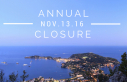 Annual closure 2016-2017