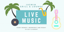Live music nights at the Jasmin Grill & Lounge